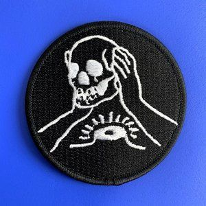 FREE ADD ON - Against Me! Circle Skull Patch